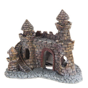 Aquarium Decoration Wizard's Castle Fish Tank Shelter House