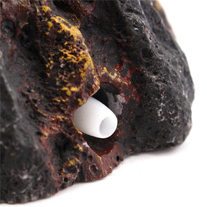 Aquarium Volcano Shape & Air Bubble Stone Oxygen Pump Fish Tank Ornament Decoration