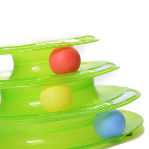 Cat Toys Three Levels Tower Tracks Disc