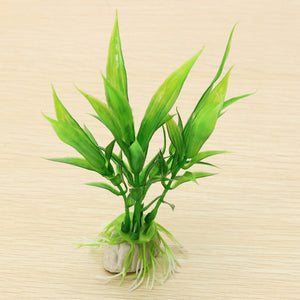Aquarium Fish Tank Plant Artificial Underwater Decoration Green