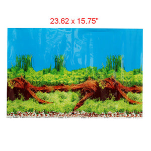 Aquarium Decoration Background Double Sided Poster -  For Fish Tank