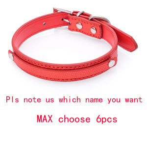 Pet Dog Collar With Diamond Bucklet Puppy Cat Necklace W/ Letters & Charms Collar Perro