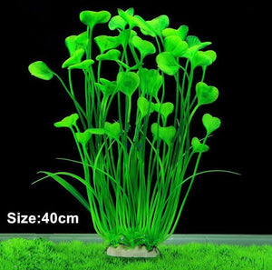 New 40cm Butterfly Shape Plastic Artificial Aquarium Plant Decoration Fish Tank Decorative Plant Grass Ornament 3 Color