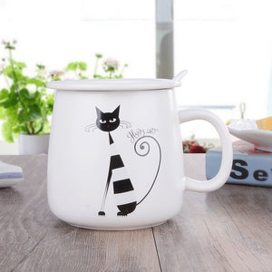 Cat Ceramic Tea Cup
