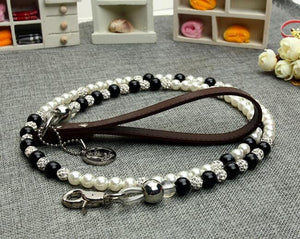 Pearl leash for pet