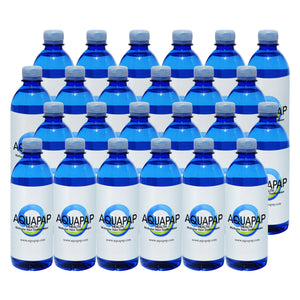 AQUAPAP 16.9 Ounce 24 Pack Vapor Distilled CPAP Water
