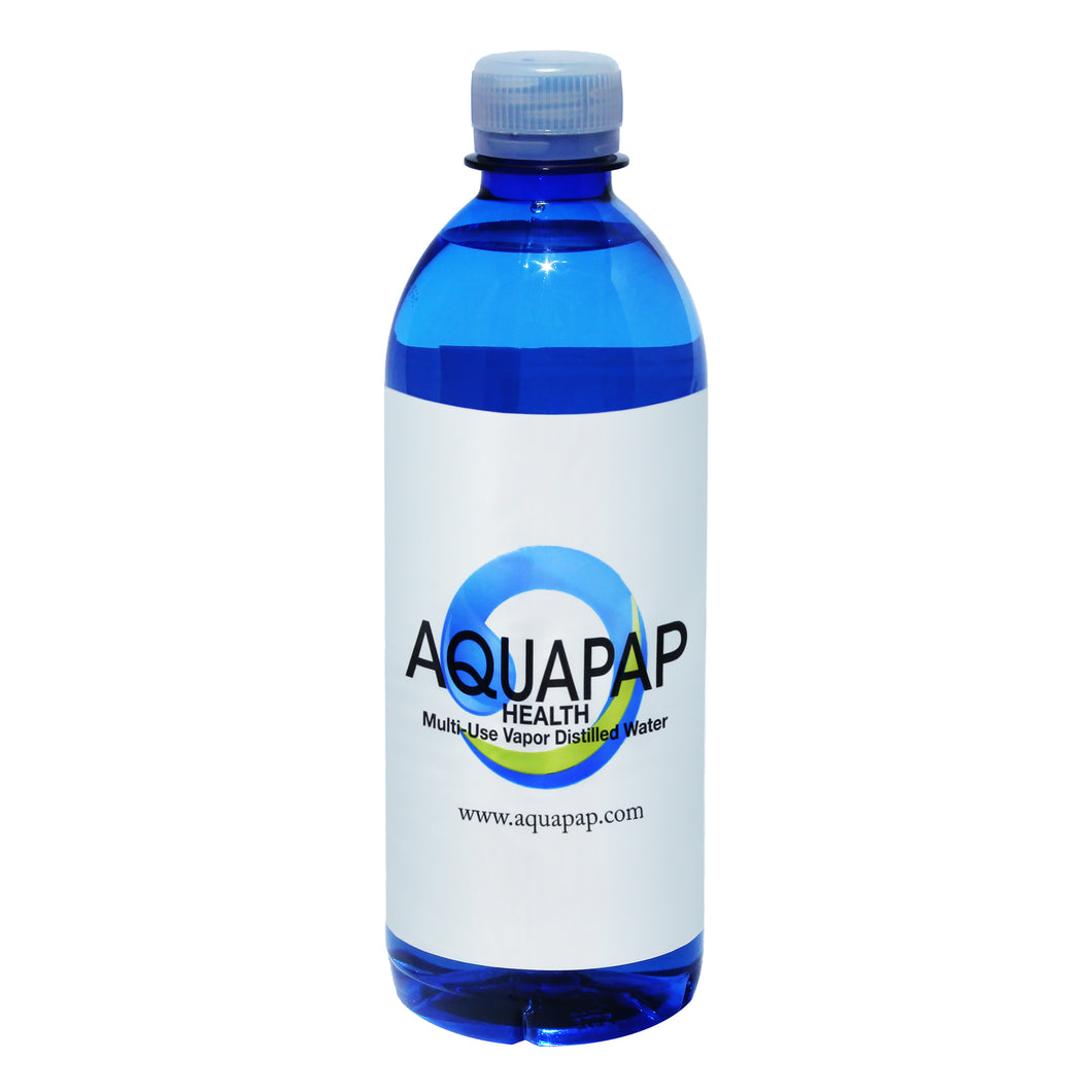 AQUAPAP 16.9 Ounce Single Bottle Vapor Distilled CPAP Water FREE SHIPPING