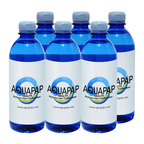 AQUAPAP 16.9 Ounce 6 Pack Vapor Distilled CPAP Water