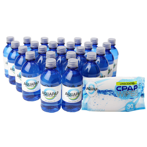 24-Pack Water (12 oz) & Wipes Combo**FREE SHIPPING **