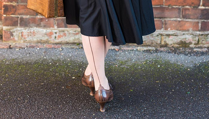 Seamed Stockings | Brown seamed stockings