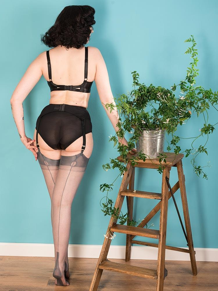 Fully Fashioned Stockings Grey H2042 What Katie Did FF Stockings