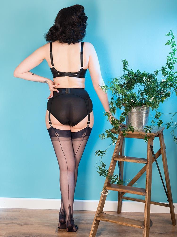 Fully Fashioned Stockings Navy H2046 What Katie Did FF Stockings