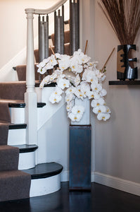 White Alabaster Phalaenopsis Bouquet 6 stems Only (Vase Not Included)