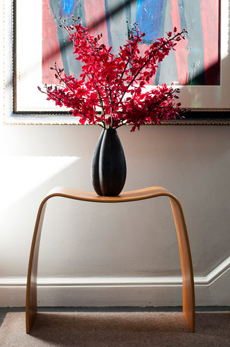 Festive Red 5 stem Aranthera  Anne Black arranged in Bohari Porcelain Vase
