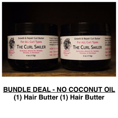 BUNDLE - NO COCONUT OIL - (1) Hair Butter + (1) Hair Butter (almond oil is an ingredient)