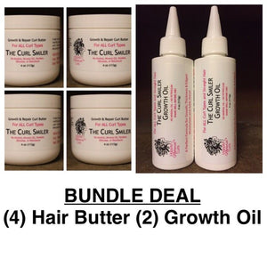 BUNDLE - (4) Hair Butter + (2) Growth Oil (coconut oil is an ingredient)