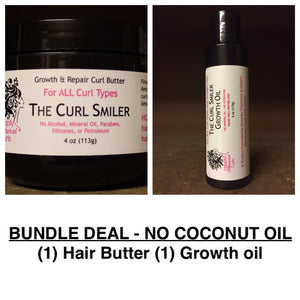 BUNDLE - NO COCONUT OIL - (1) Hair Butter + (1) Growth Oil (almond oil is an ingredient)