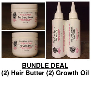 BUNDLE - (2) Hair Butter + (2) Growth Oil (coconut oil is an ingredient)