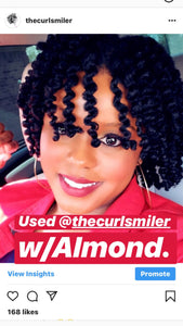 NO COCONUT OIL - The Curl Smiler Growth & Repair Curl Butter (almond oil is an ingredient)