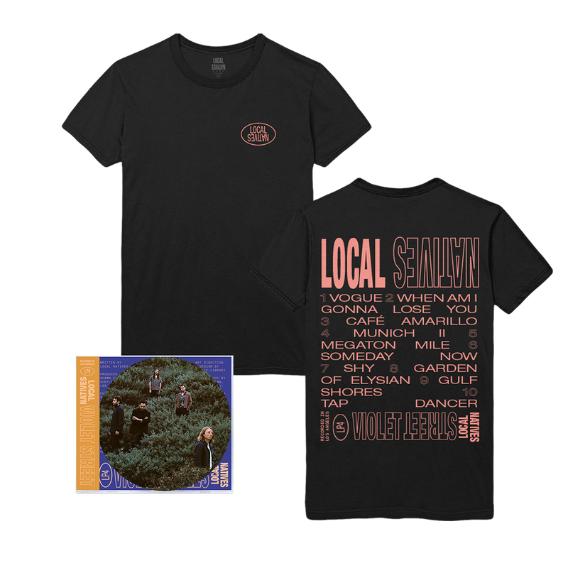VIOLET STREET CD + TEE BUNDLE - Local Natives