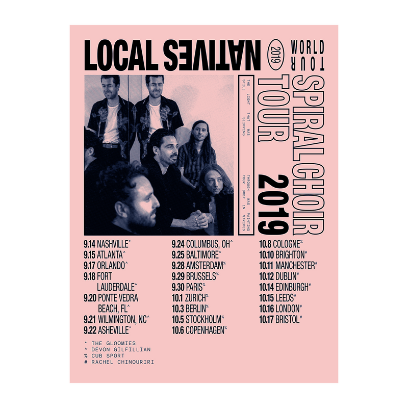 Spiral Choir 2019 Tour Poster - Local Natives