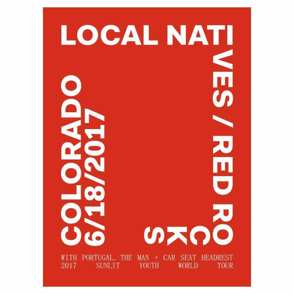 RED ROCKS EVENT POSTER JUNE 18, 2017 - Local Natives
