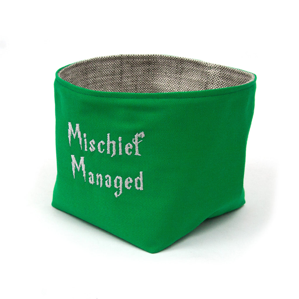 Mischief Managed Basket - Slytherin