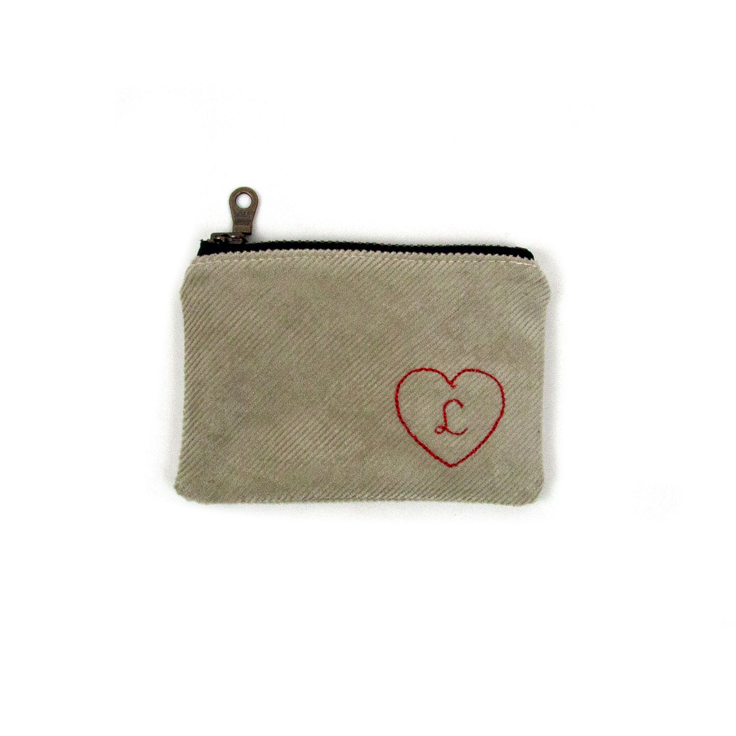 Personalized Coin Purse - Beige