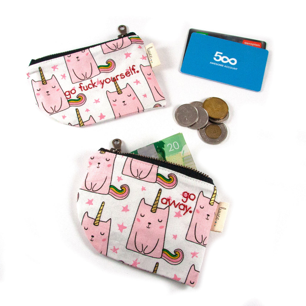 Rude Caticorns Coin Purse