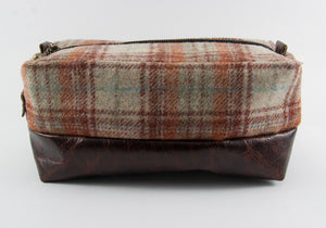 Limited Edition Blue Red Plaid & Mahogany Dopp Kit ONLY - Compact Size