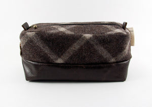 Limited Edition Dark Plaid & Coffee Dopp Kit ONLY - Compact Size