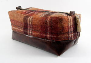 Limited Edition Red Plaid & Mahogany Dopp Kit ONLY - Compact Size
