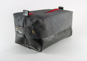 Compact Dopp Kit - Pepper with Red Accent