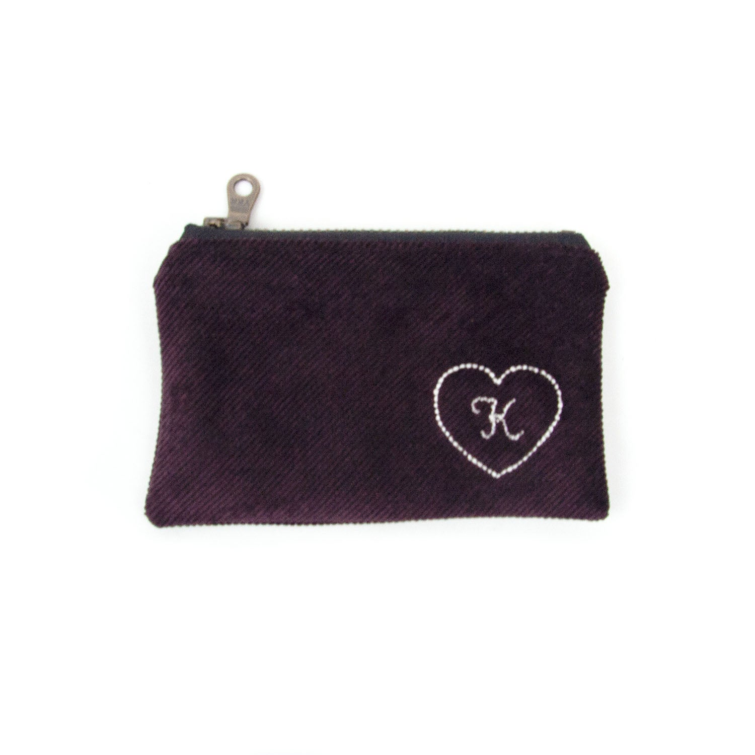 Personalized Coin Purse - Eggplant