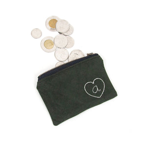 Personalized Coin Purse - Forest Green