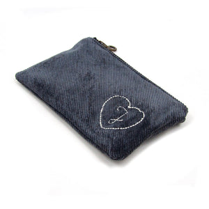 Personalized Coin Purse - Grey