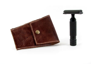 Safety Razor Case - Mahogany