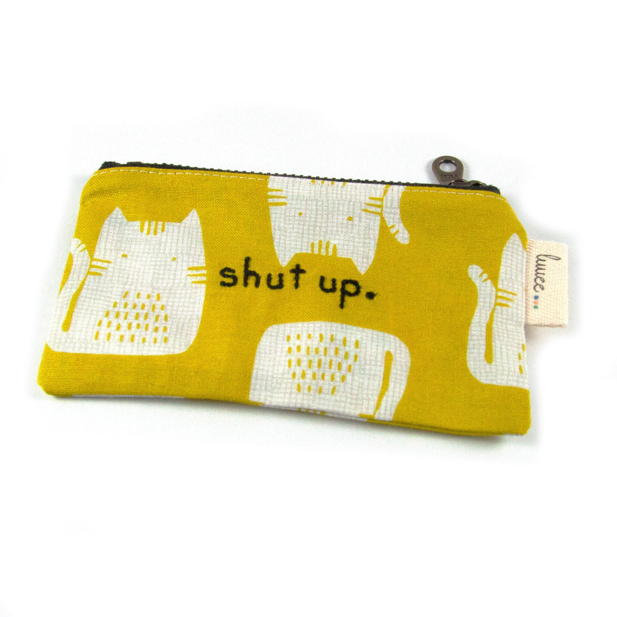 Rude Cats Coin Purse - Mustard