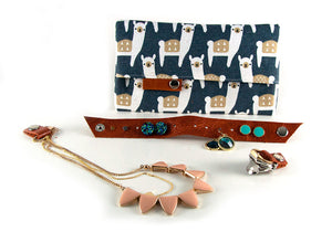 Jewelry Travel Kit - Navy Alpacas