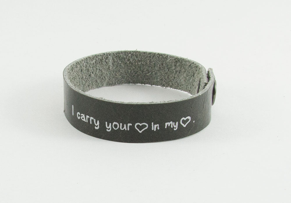 I Carry Your Heart in my Heart Clip Bracelet
