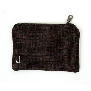 Personalized Coin Purse - Pepper Brown