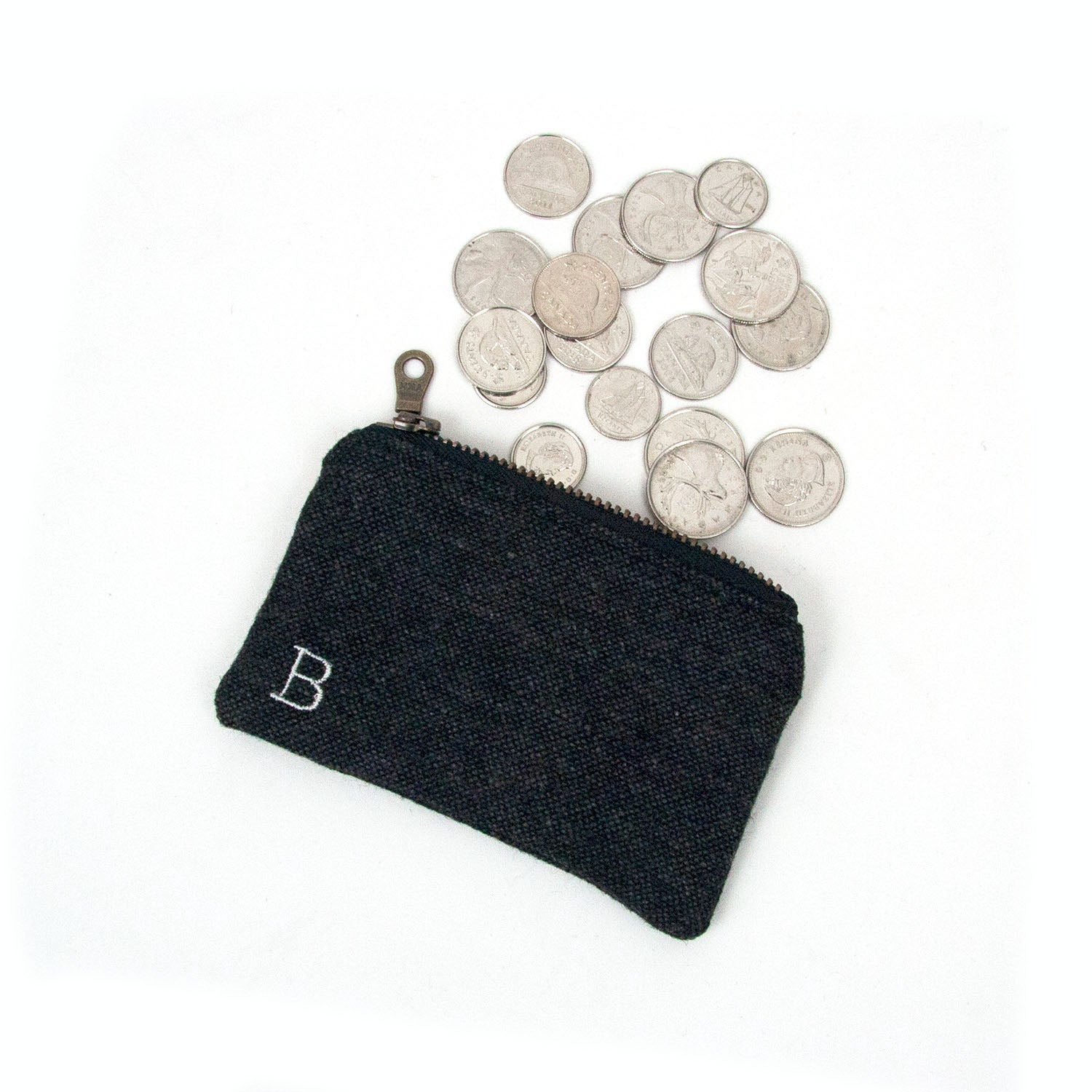 Personalized Coin Purse - Pepper Grey