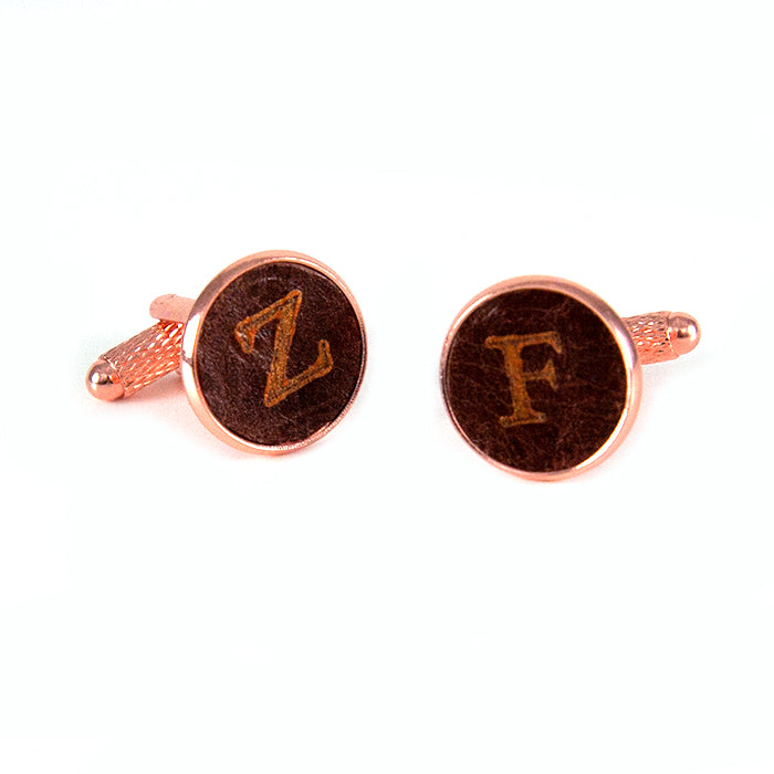Personalized Rose Gold Cuff Links