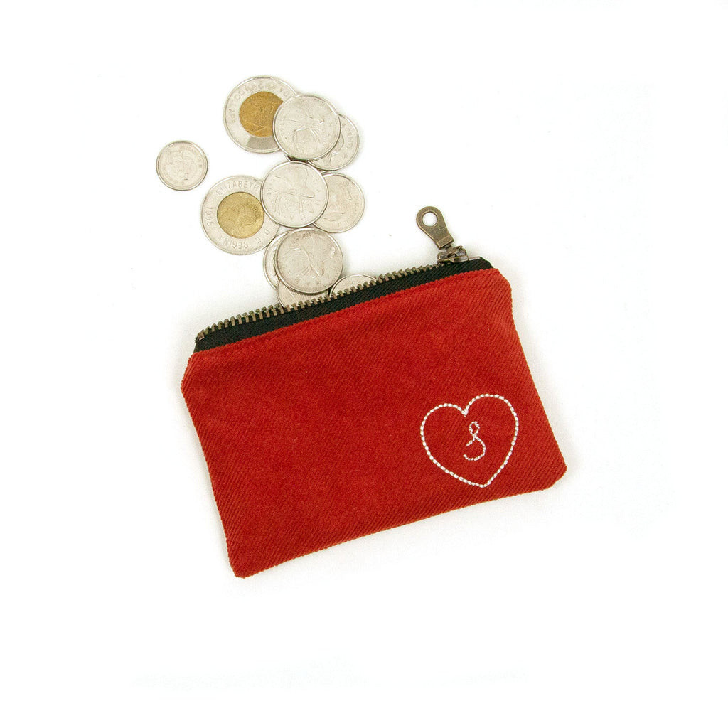 Personalized Coin Purse - Rust