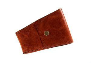 Safety Razor Case - Shiny Cognac