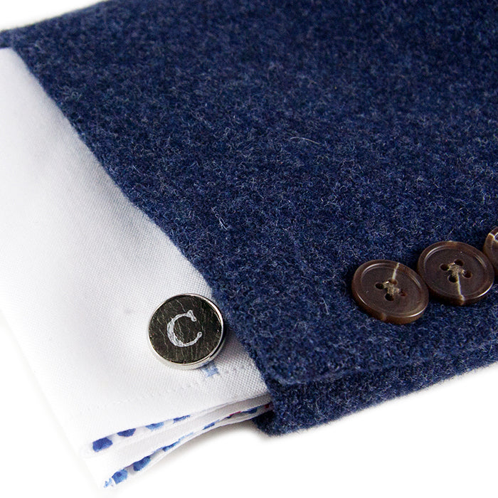 Personalized Silver Cuff Links