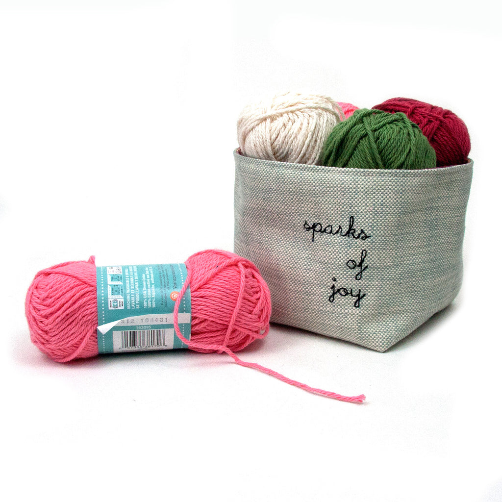 Sparks of Joy Basket - Turquoise