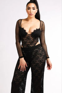 Seduction Bodysuit/Pants Set