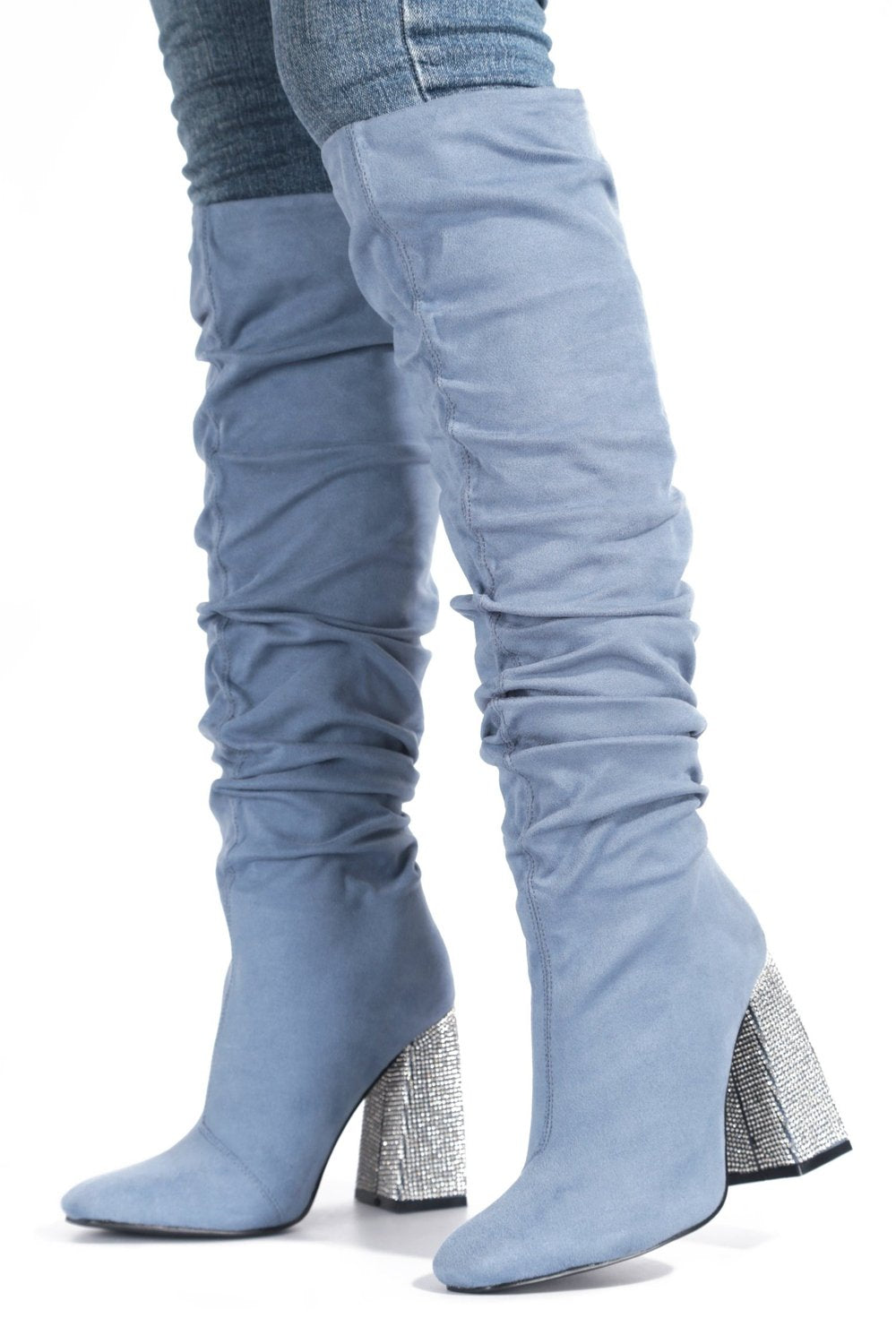 Influencer Knee Boots - Blue