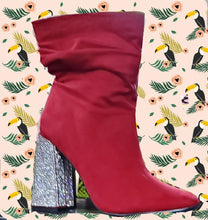 The Influencer Booties  - Red, Black, Blue